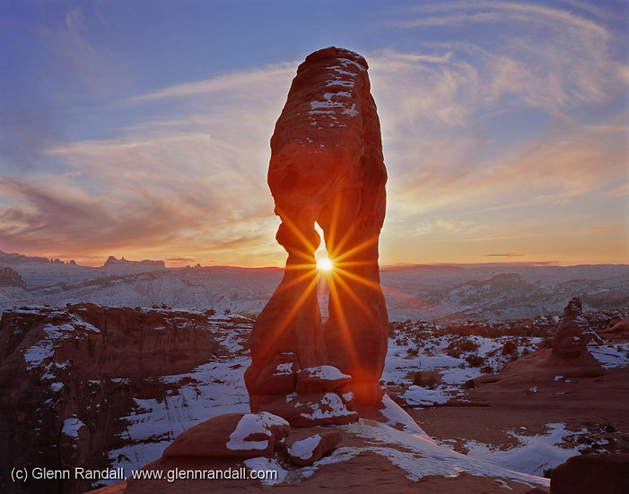 January Sunset at Delicate Arch, Arches National Park, Utah