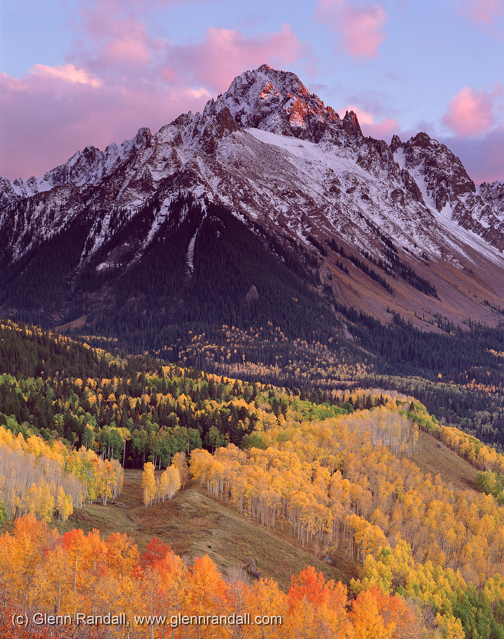 Mt. Sneffels at sunset, Mt. Sneffels Wilderness, Colorado