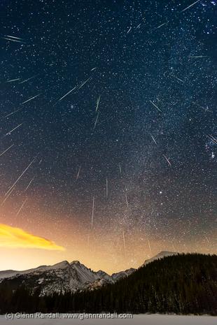 Geminid Meteor Shower from Bear Lake