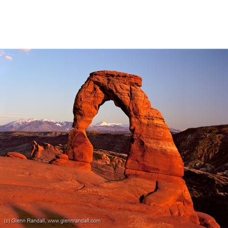 Delicate Arch and the La Sal Mountains