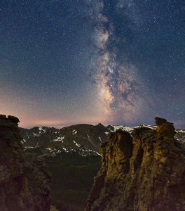 Milky Way over the Rock Cut, Rocky Mountain National Park, Colorado