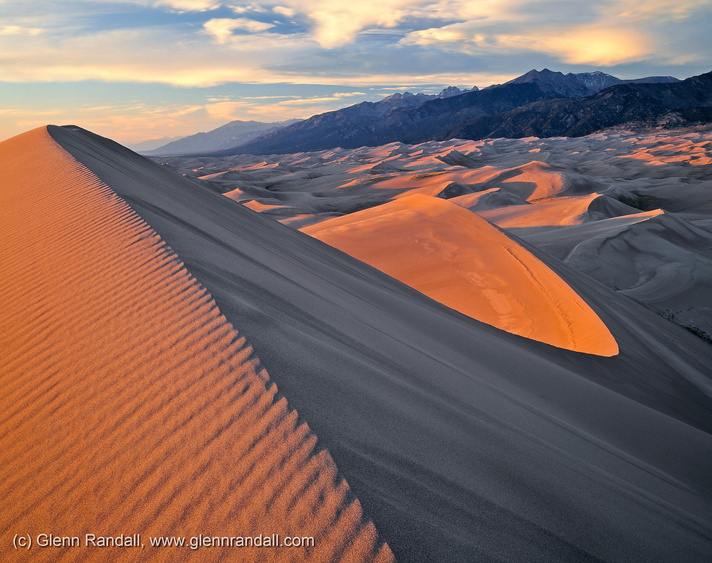The Sangre de Cristo Mountains from Star Dune, Great Sand Dunes National Park, Colorado.