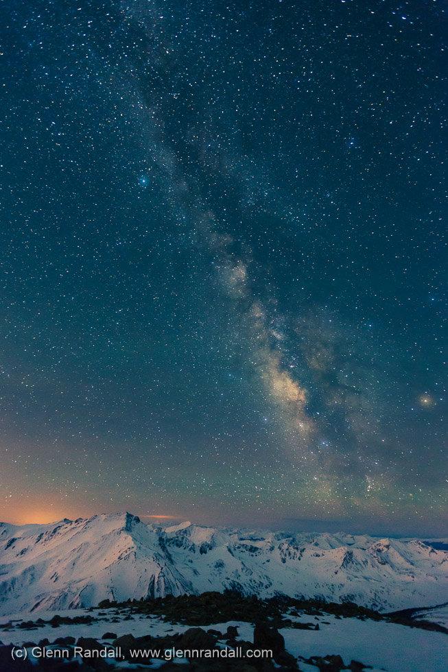 Milky Way from Mt. Oxford, Collegiate Peaks Wilderness, Colorado