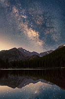 Milky Way over Bear Lake II, Rocky Mountain National Park, Colorado