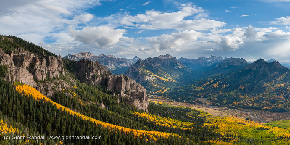 Cimarron Country Panorama, San Juan Mountains, Colorado