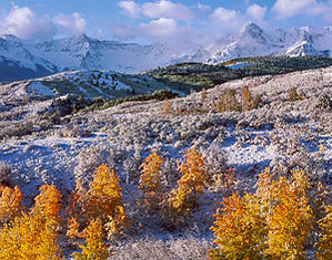 Sneffels Range from Dallas Divide after a September snow, Mt. Sneffels Wilderness, Colorado