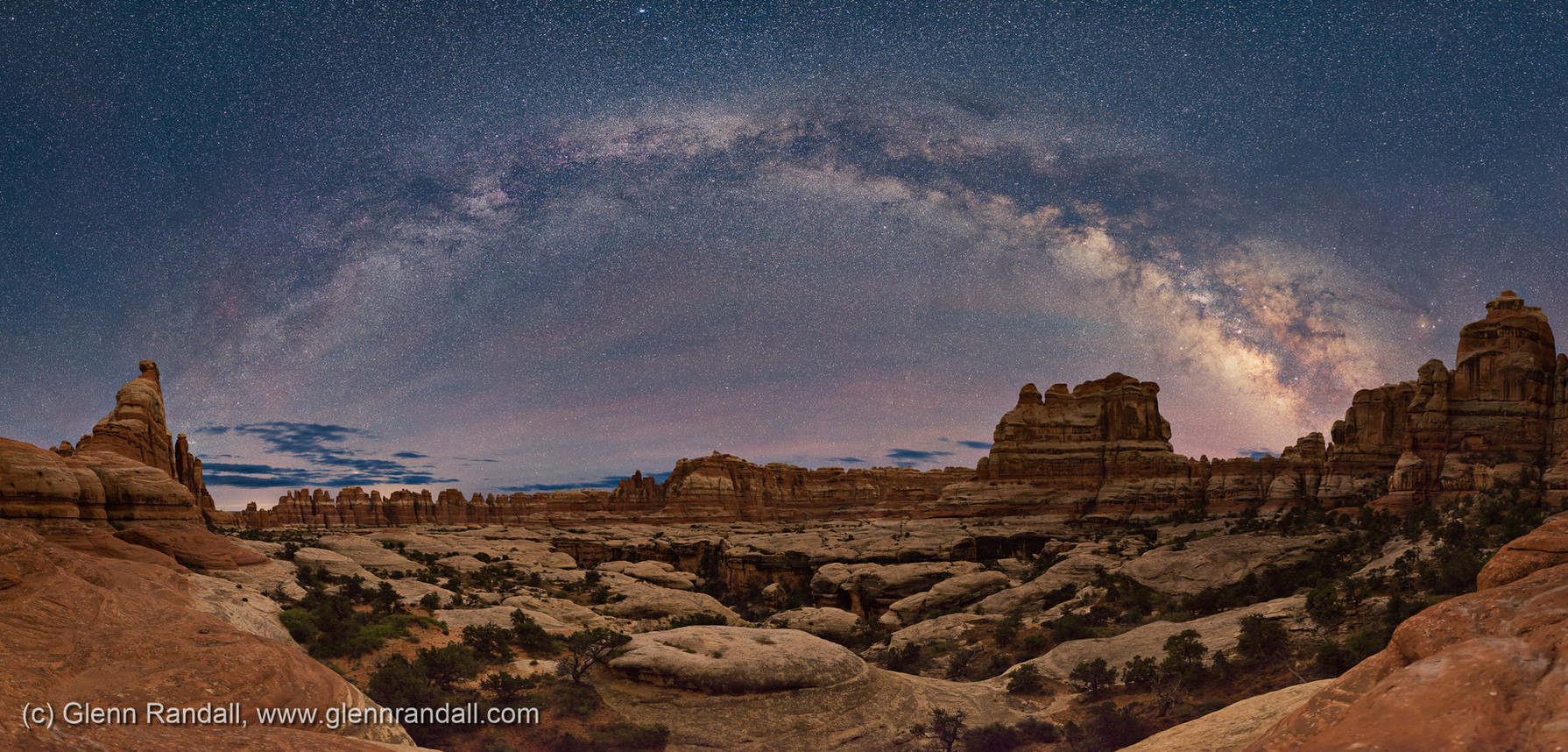 Milky Way Panorama over Elephant Canyon