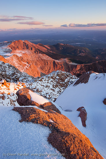 Sunrise from Pikes Peak, San Isabel National Forest, Colorado