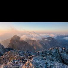Sunrise from Crestone Peak