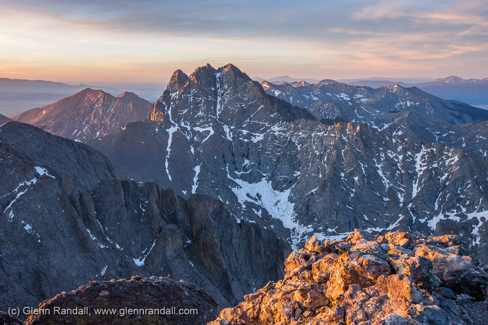 Sunrise from Kit Carson Peak, Sangre de Cristo Wilderness, Colorado
