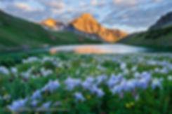Blue Lake Sunrise, Mt. Sneffels Wilderness, Colorado