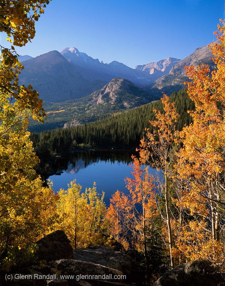 Longs Peak from Bear Lake in Autumn, Rocky Mountain National Park, Colorado