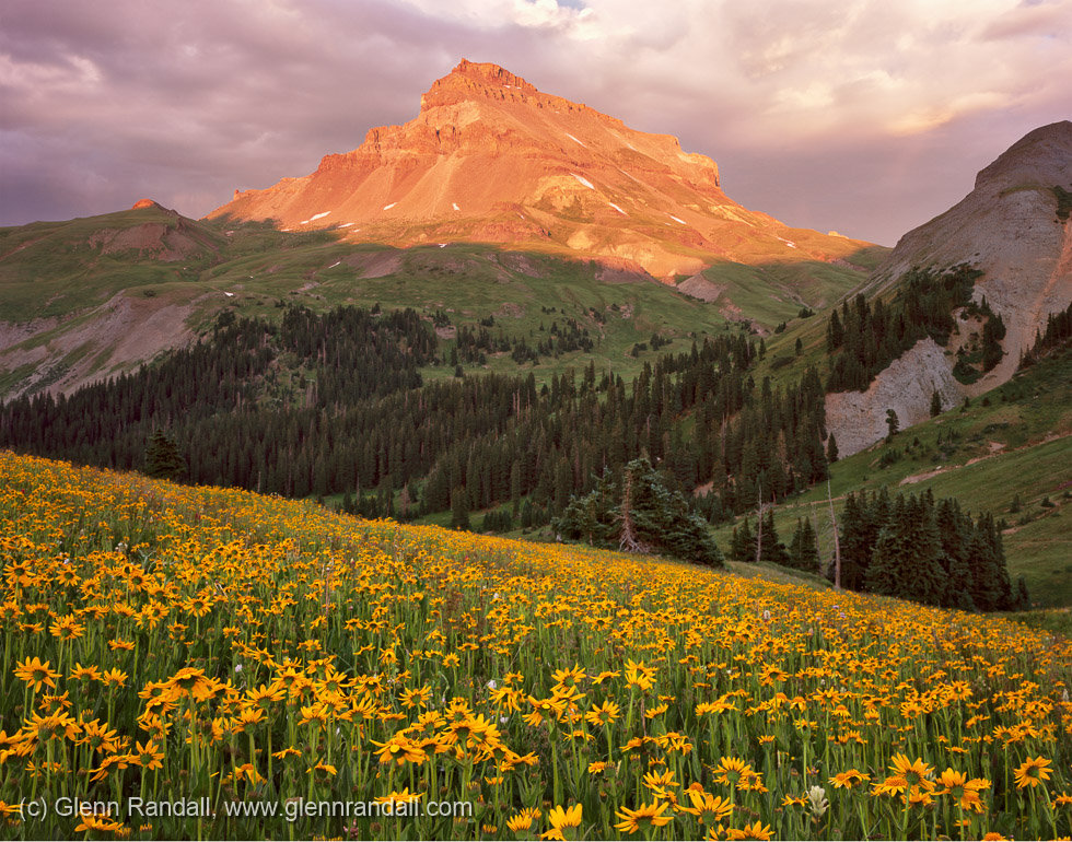 Uncompahgre Peak at Sunset, Uncompahgre Wilderness, Colorado