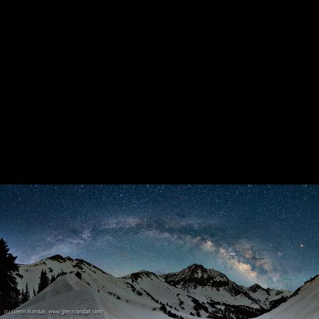 Milky Way Panorama over Capitol Peak