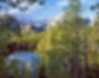 Longs Peak from Bear Lake in spring, Rocky Mountain National Park, Colorado