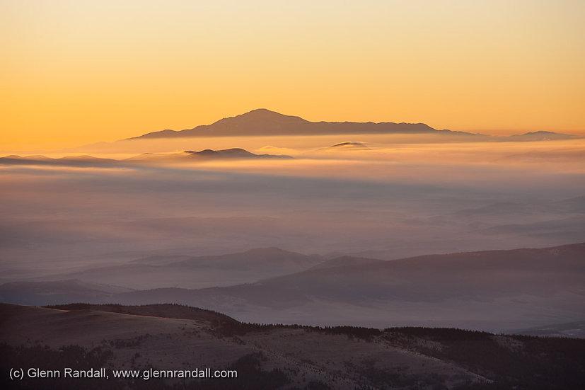 Sunrise from Mt. Lincoln, Mosquito Range, Colorado