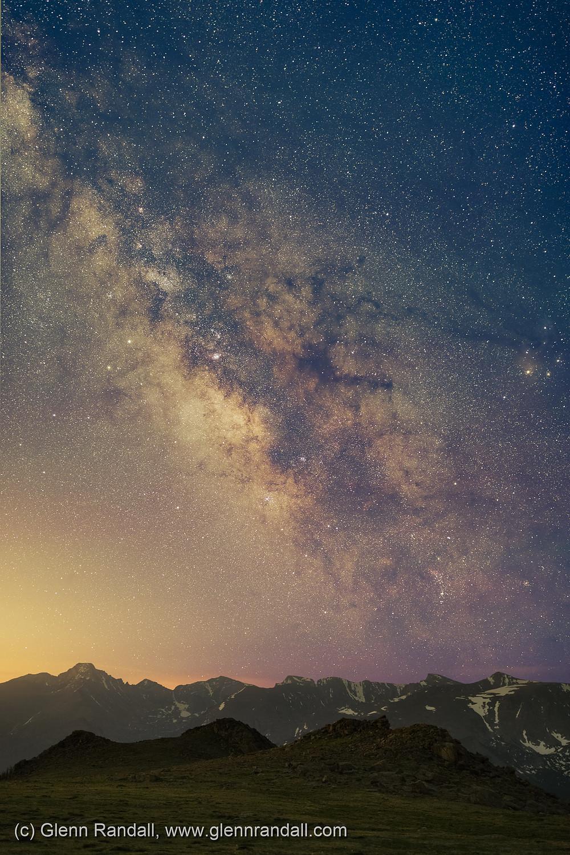 The Milky Way over Longs Peak, Rocky Mountain National Park, Colorado