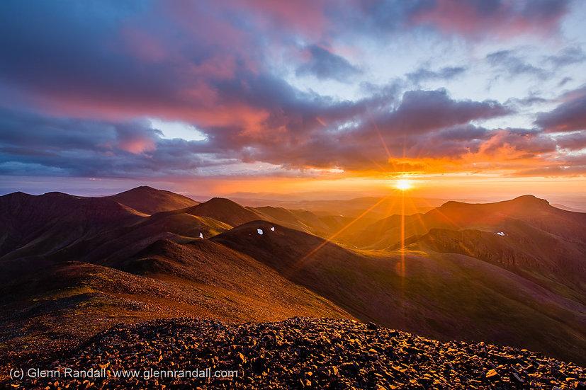 Sunrise from San Luis Peak, La Garita Wilderness, Colorado
