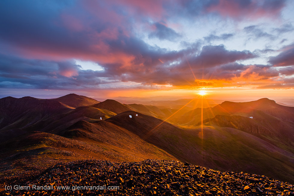 Sunrise from San Luis Peak, La Garita Wilderness, Colorado