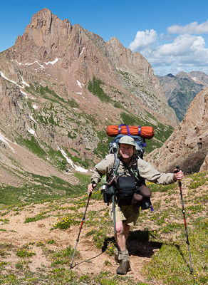 Glenn Randall on a shoot in the Weminuche Wilderness, Colorado