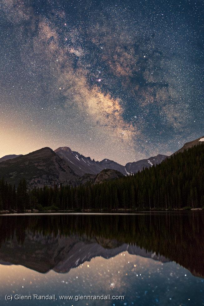 Milky Way over Bear Lake II, Rocky Mountain National Park, Colorado