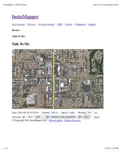 GPS Tracking of Artist's Walks