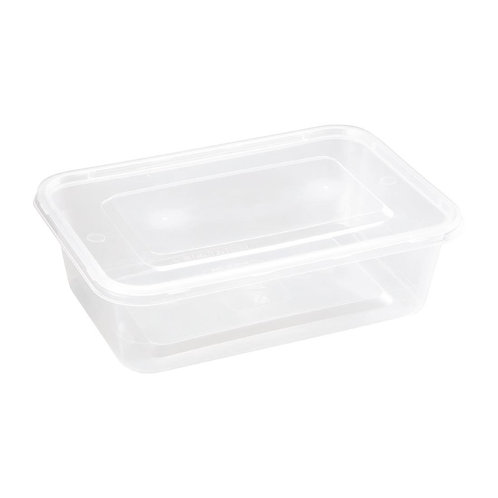 Fiesta Plastic Microwavable Containers With Lid (Pack 250)