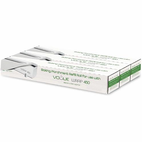Vogue Baking Parchment 50m fits Wrap450 Dispenser (Pack of 3)