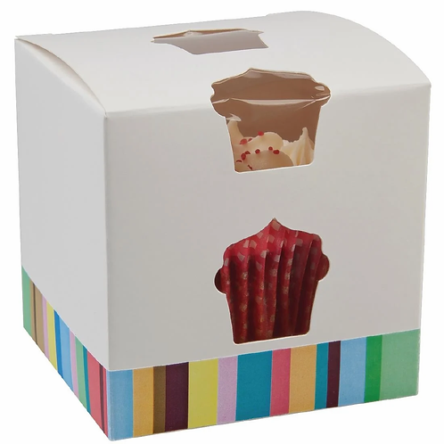 Colpac Single-Cavity Cupcake Boxes (Pack of 10)