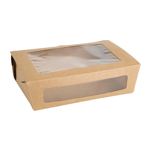 Fiesta Green Salad Box With PLA Window (Pack Of 200)