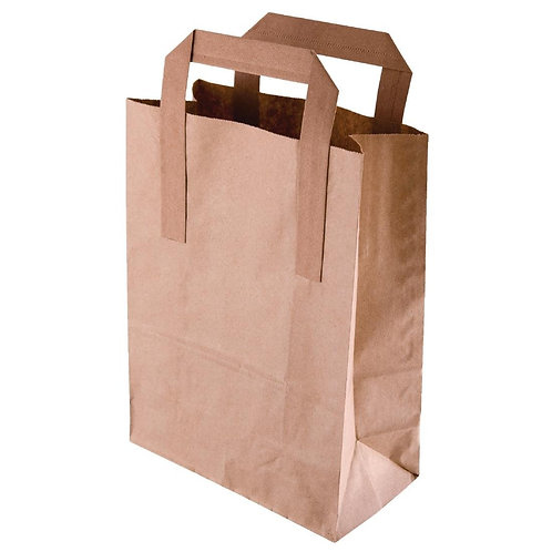 Brown Paper Carrier Bags x 250