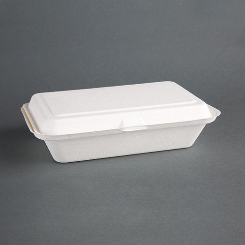 Fiesta Green Compostable Bagasse Hinged Food Containers 248mm
