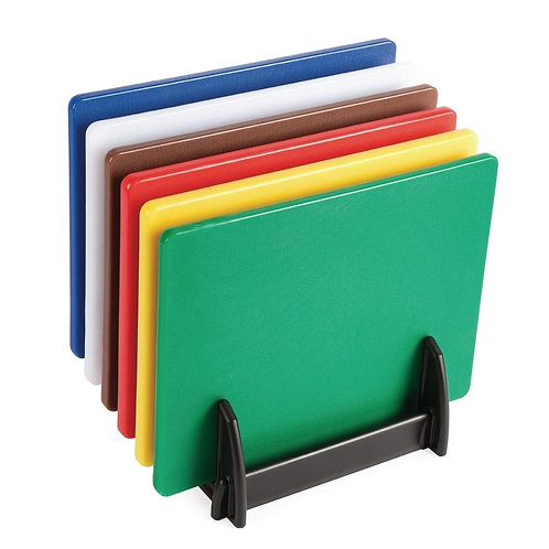 Hygiplas Low Density Chopping Board Set With Rack