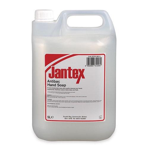 Jantex Unperfumed Antibacterial Liquid Hand Soap 5Ltr