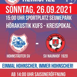 Feierliche Saisoneröffnung: Pokalkracher gegen den SV Naunhof