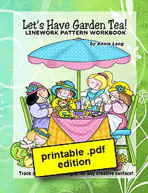 Let's Have Garden Tea Linework Pattern Book PDF