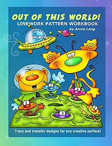 Out of this World Linework Pattern Book Sample Page