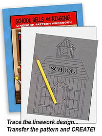 School Bells are Ringing Linework Pattern Sample Page