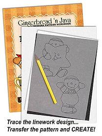 Gingerbread 'n Java Linework Pattern Sample Page