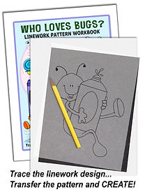 Annie Lang's Who Loves Bugs? Linework Pattern Sample Page