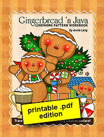 Gingerbread 'n Java Linework Pattern Book PDF