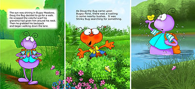 Find It Keep It storybook sample pages by Annie Lang