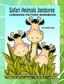 Safari Animals Jamboree Linework Pattern Book