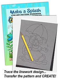 Annie Lang's Make a Splash Line Art