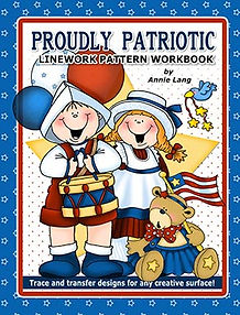 Annie Lang's Proudly Patriotic Linework Pattern Book Cover