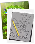 Annie Lang's trace and transfer creative line art pattern coloring books