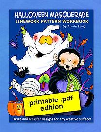 Halloween Masquerade Linework Pattern Book PDF