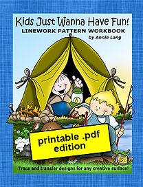 Kids Just Wanna Have Fun Linework Pattern Book PDF