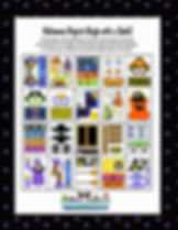Annie Lang's Paper Clip Halloween ready to craft seasonal art project book page samples