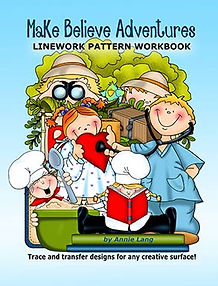 Annie Lang's Make Believe Adventures Linework Pattern Book Cover